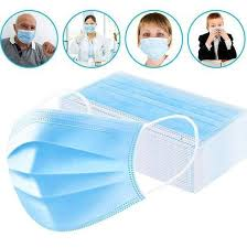Pack of <b>50</b> - 3 Ply <b>Disposable Face Mask</b> Non Woven Mask with Ear ...
