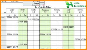 Schedule Maker For Work Schedule Maker Excel Free Printable Work Schedules Discopolis Club