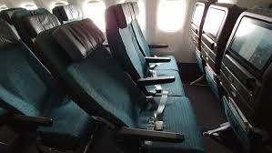 first look cathay pacific s 10 across b777 300er economy seat