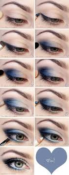 easy step by step blue smokey eye makeup tutorial