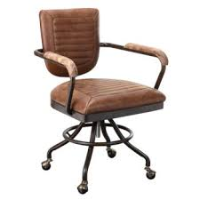 industrial office chairs. Foster Industrial Office Chair In Leather Chairs C