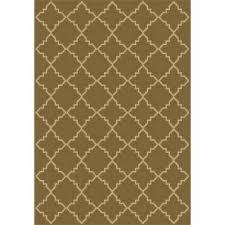 hampton bay indoor outdoor rugs tile neutral 5 ft x 7 ft indoor outdoor area rug