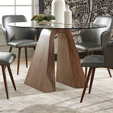 scott living glass round dining table