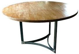 round wood dining table with metal legs metal dining room table rustic wood dining table with