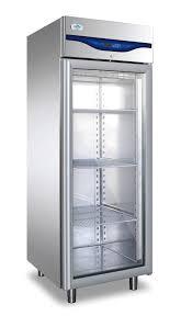 everlasting upright single glass door fridge professional 600