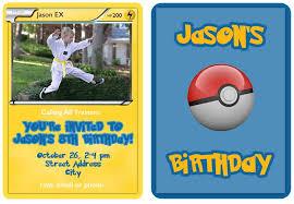 Pokemon Trading Card Invitation Templates Jacobs 8th Birthday