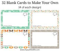 Printable Blank Cards Printable Blank Cards Room Surf Com