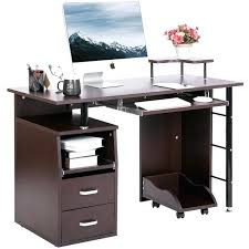 computer desk closed cabinet enclosed top computer cabinet open door office administration certificate