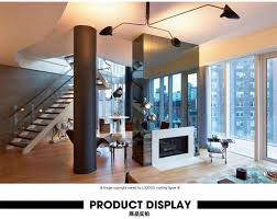 retro industrial loft nordic iron ceiling light living room creative artistic personality serge mouille ceiling lamp