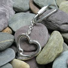 extra large open heart keyring