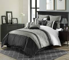 Bedroom: Luxury Embossed Solid Oversized Bedding With Black And ... & Black and White Comforter Sets   Black and White Quilt Sets   Black White  and Red Adamdwight.com