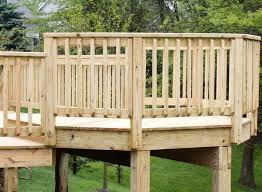 diy wood deck railing designs