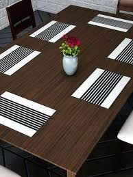brown table mats set of 6 printed table mats brown woven round placemats round brown paper