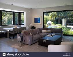 Open Plan Living Room Open Plan Living Room And Dining Area In Stone House Atherton