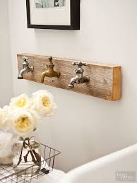 bathroom decor ideas unique decorating: add a unique focal point to your homes walls with these decorating ideas that use vintage flea market items our ideas include using old faucets