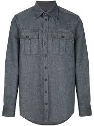 Dsquared2 Chest Pocket Shirt Grey 860 Men Clothing Jackets