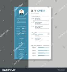 Professional Cv Resume Templates Super Clean Stock Vector Royalty