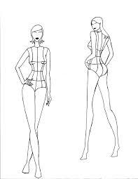 Fashion Figure Template Girl Indemoco