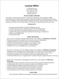 Resume Templates: Pharmacy Technician