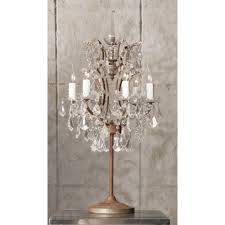 crystal chandelier table lamps photo 1