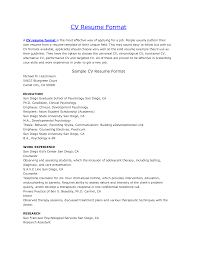 Resume And Cv Format Sample Of Cv Or Resume Format Cv Resume Jobsxs 5
