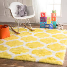 rugs curtains beautiful faux fur yellow and white area rug for