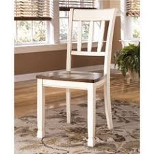 for signature design by ashley whitesburg two tone dining room side chair