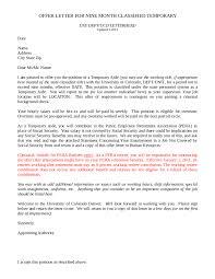 offer letter format offer letter sample offer letter example 01