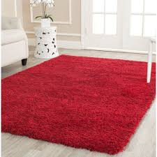exciting rugs 5x7 safavieh cozy solid red rug 8 6 x 12 ping home