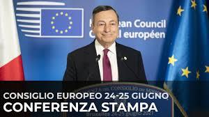 Consiglio europeo ed Eurosummit, conferenza stampa del Presidente Draghi -  YouTube