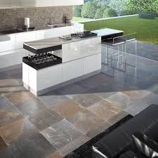kitchen tile living room outdoor floor multicolor slate canyon