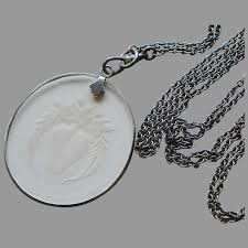 victorian metal etched glass pendant