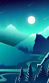1280x2120 Mountain Scenery Minimalism ...