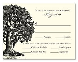 Wedding Rsvp Cards Vieux Oak Also Available In Plantable