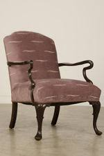 Antique English Queen Anne Style Mahogany Armchair Circa 1890 Queen Anne Armchair C86