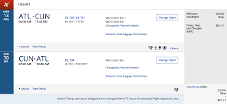 Delta Frequent Flyer Award Chart Delta Adds New Permanent Skymiles Deals Page For Award