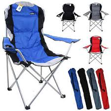 image is loading heavy duty cing chair luxury padded folding high