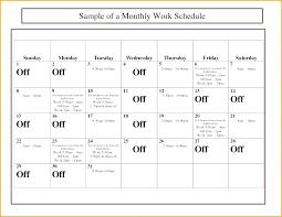 Calendar Schedule Template Landscape In Colour Meeting Excel