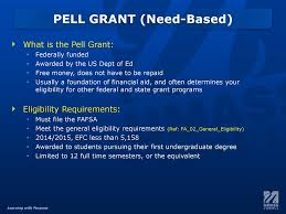 2014 15 Pell Chart The Solution Center The Financial Aid Award Package Part 2