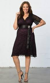 am i plus size plus size cocktail dress retro glam lace dress in black purple