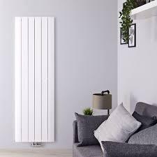Radiateur Design Vertical Raccordement Central Aluminium Blanc Aurora 180cm  x 56,5cm x 4,6cm 2075 Watts