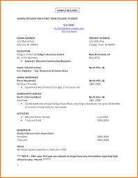 Student Template Resume Job Resume Format For College Students 14