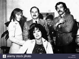 Italian author Gino Magazù and actors Daniela Nobili, Edmonda Aldini and Orso  Maria Guerrini . 10 June 1973. Unknown 45 L'ombra che cammina Stock Photo -  Alamy