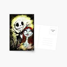The nightmare before christmas : Nightmare Before Christmas Postcards Redbubble