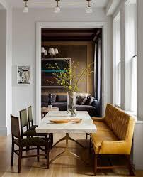 Esszimmer Essplatz Esstisch Weiß Bank Leder Stühle Wohnen Dekorieren
