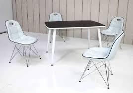Tischgruppe Im Stil Der Fünfziger Jahre Esstisch Eckig Schwarz