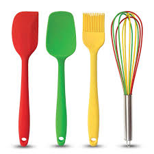 red silicone cooking tools