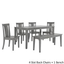 Wilmington II 60-Inch Rectangular Antique Grey Dining Set by iNSPIRE Q  Classic - Free Shipping Today - Overstock.com - 24213608