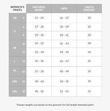 Orvis Womens Size Chart Size Guides Tilley