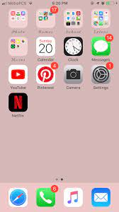 Home screen layout